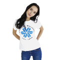 Siberian Wellness T-shirt for women (color: white, size: XS)